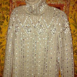 STUNNING Valentino Cashmere Beaded/Sequin Sweater!